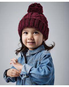 Infant/junior cable knit melange beanie