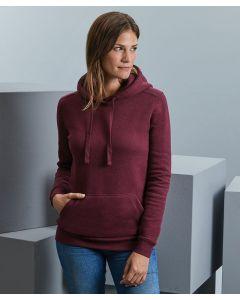 Women's authentic melange hooded sweatshirt