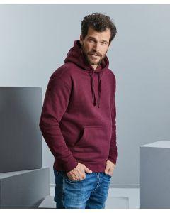 Authentic melange hooded sweatshirt