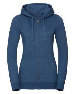 Women's authentic melange zipped hood sweatshirt