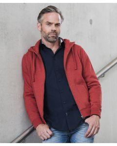 Authentic melange zipped hood sweatshirt