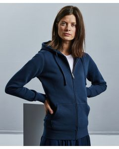 Women's authentic zipped hooded sweatshirt