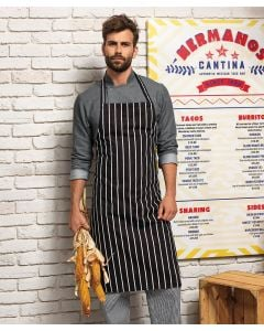 Striped bib apron