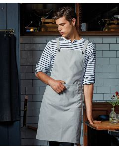 Cross back 'barista' bib apron