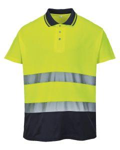 Hi-vis two-tone cotton Comfort polo shirt (S174)