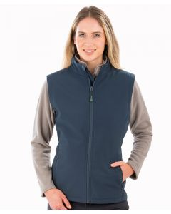 Women's recycled 2-layer printable softshell bodywarmer